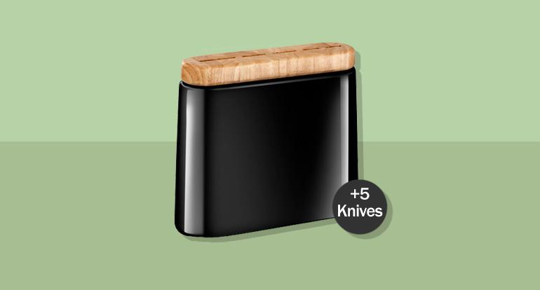 Knife block 5-piece by Manille Pluton